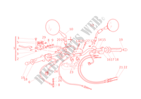 HALF HANDLEBARS for Ducati Monster 600 2001