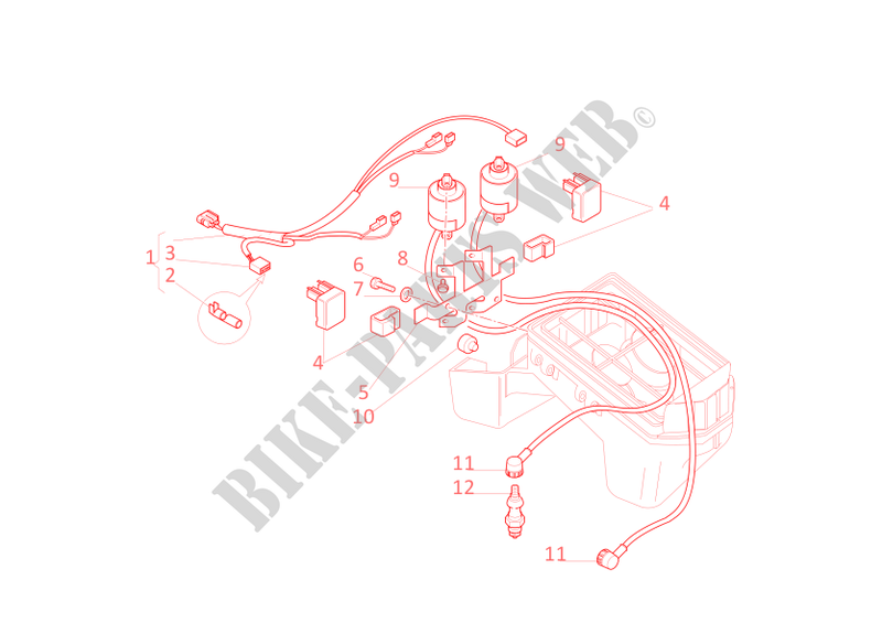 ducati ignition wiring diagram ignition system for ducati monster 750 2001 ducati online  ignition system for ducati monster 750