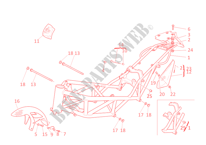 FRAME for Ducati Monster S4 2001