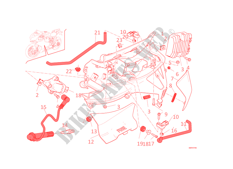 Left Wiring Harness For Ducati 1199 Panigale 2014   Ducati