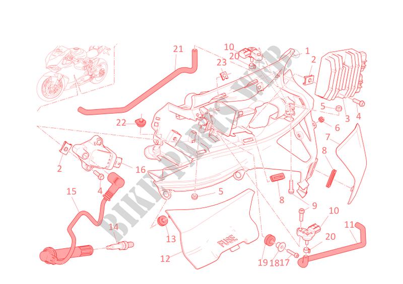 WIRING HARNESS for Ducati 1199 Panigale S 2014 # DUCATI Online Genuine  Spare Parts CatalogDucati