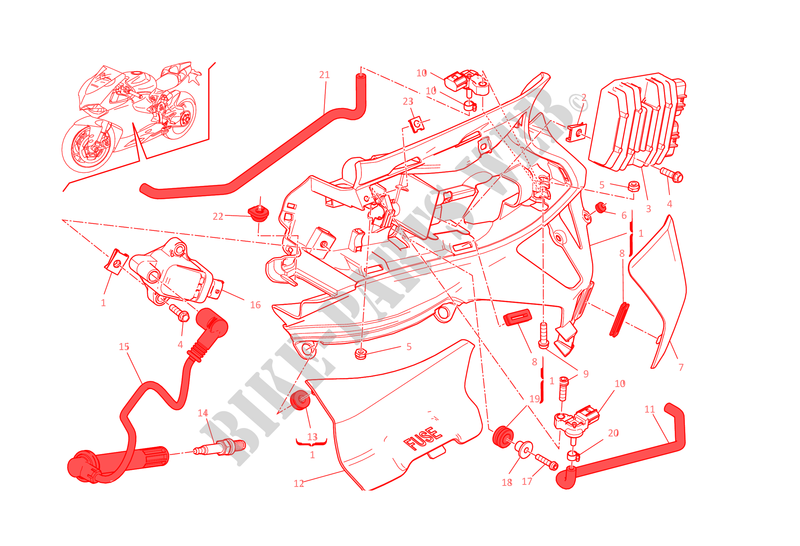 LEFT WIRING HARNESS 1199 Panigale R 1199 Panigale R 2014 Superbike