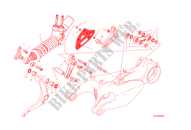 REAR SUSPENSION for Ducati 1199 Panigale R 2014