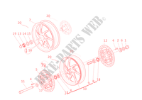 FRONT AND REAR WHEELS for Ducati 1198 SP 2011