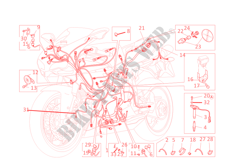 ducati motorcycle superbike 2011 848 evo 848 evo 848 evo wiring harness
