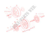 FRONT AND REAR WHEELS for Ducati 1198 2010
