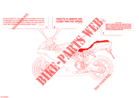 WARNING LABEL (USA) for Ducati 999 2004