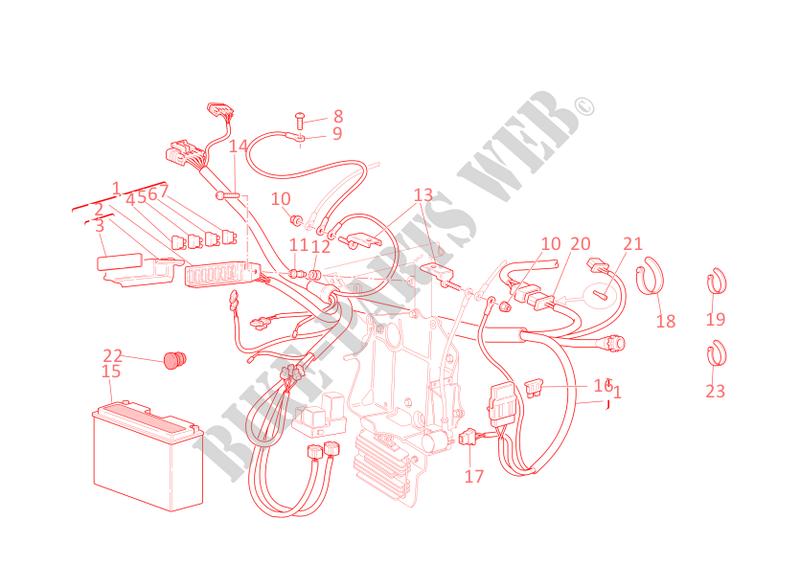 Wiring Harness For Ducati 748 R 2002   Ducati Online