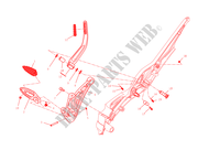 RIGHT FOOTRESTS for Ducati Diavel Carbon 2015