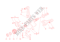 CONNECTING RODS for Ducati Diavel Carbon 2012