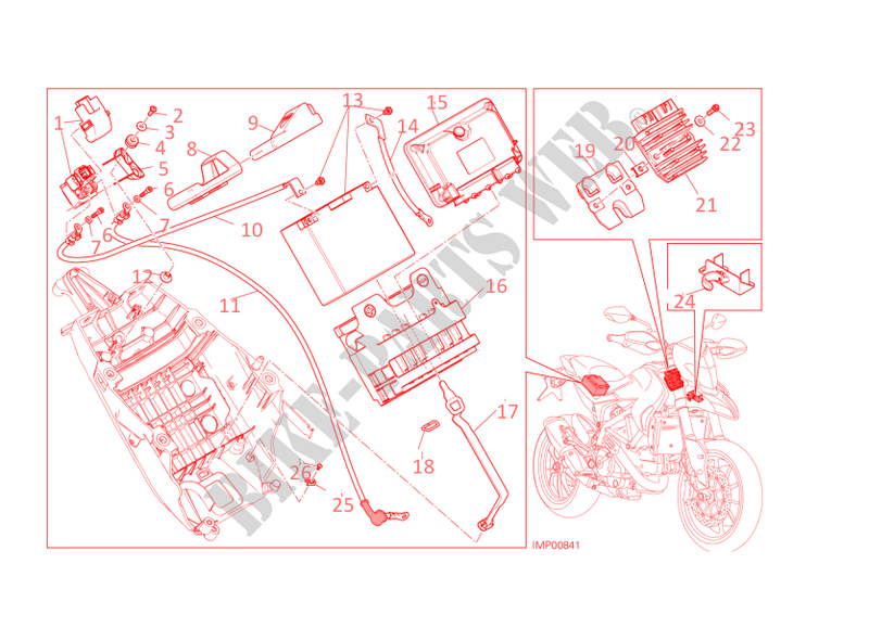 ducati regulator schematic battery support for ducati hypermotard sp 2014 ducati online  ducati hypermotard sp