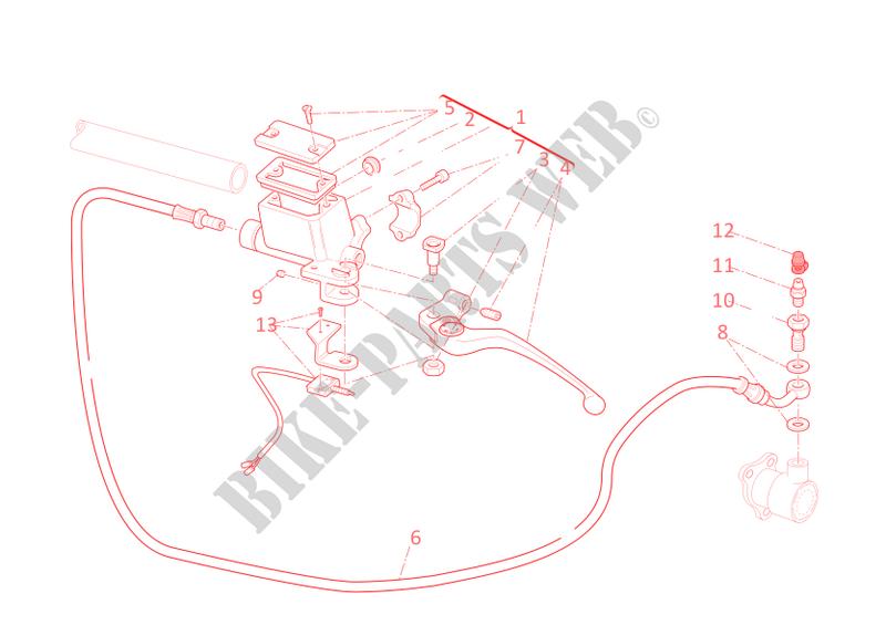 ducati motorcycle hypermotard 2012 hypermotard 796 hypermotard 796  hypermotard 796 clutch master cylinder