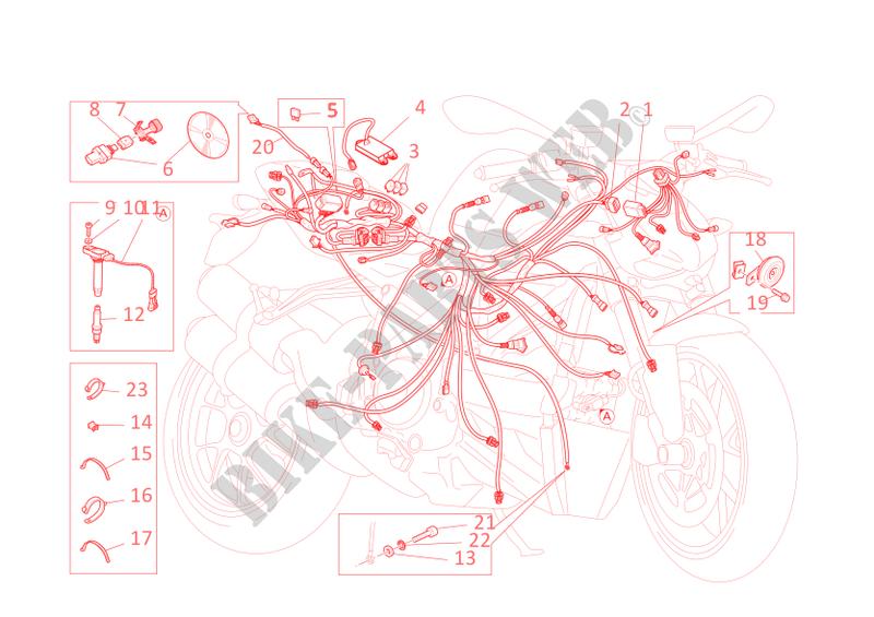 Schema Elettrico Wiring Diagram : Wiring harness streetfighter s streetfighter s