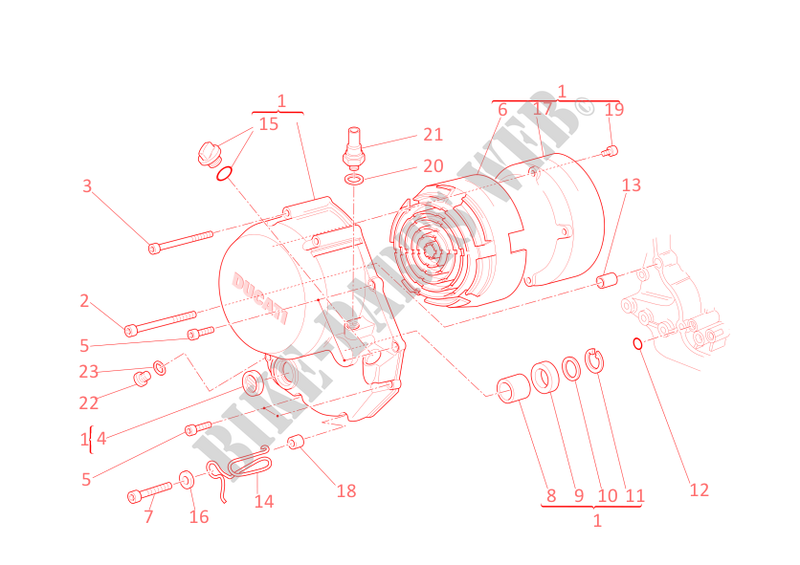 Clutch Cover Gt 1000 2009 Sport Classic Ducati Motorcycle Rh Bike Parts Electrical Wiring Diagrams Mago Wiringdiagram: Ducati Motorcycles Wiring Diagrams At Sewuka.co
