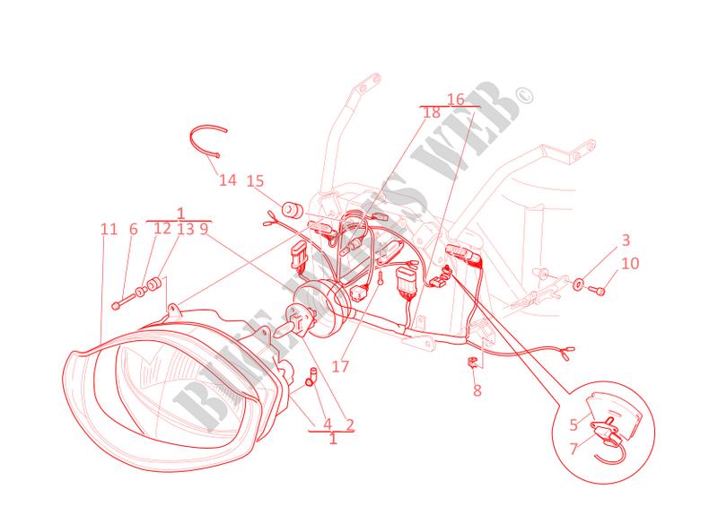 Headlight X Wiring Harness Supersport 750 2002 Rhbikepartsducati: Ducati Supersport Wiring Diagram At Gmaili.net
