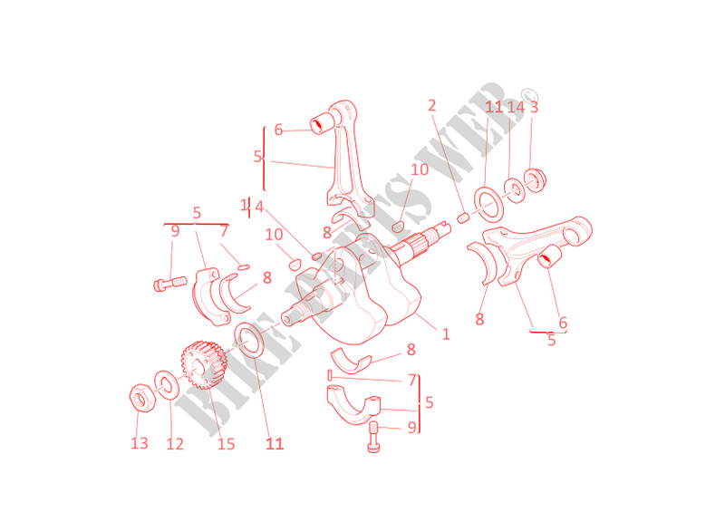 CONNECTING RODS for Ducati Multistrada 1100 2008