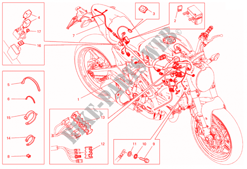 wiring harness monster 797 monster 797 2017 monster ducati rh bike parts ducati com  ducati monster 620 wiring harness