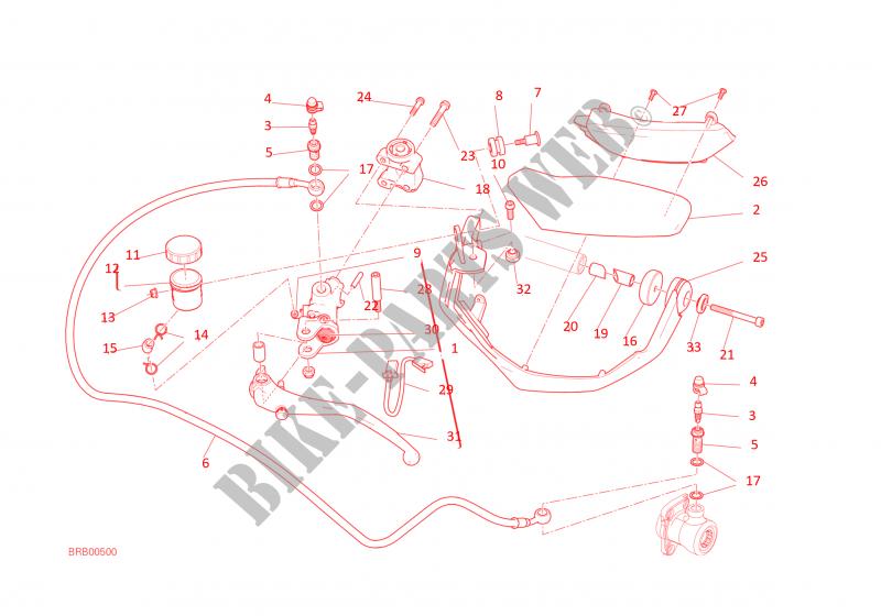 Clutch Master Cylinder For Ducati Multistrada 1200 2016 Ducati