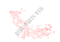 FRAME for Ducati Multistrada 620 2006