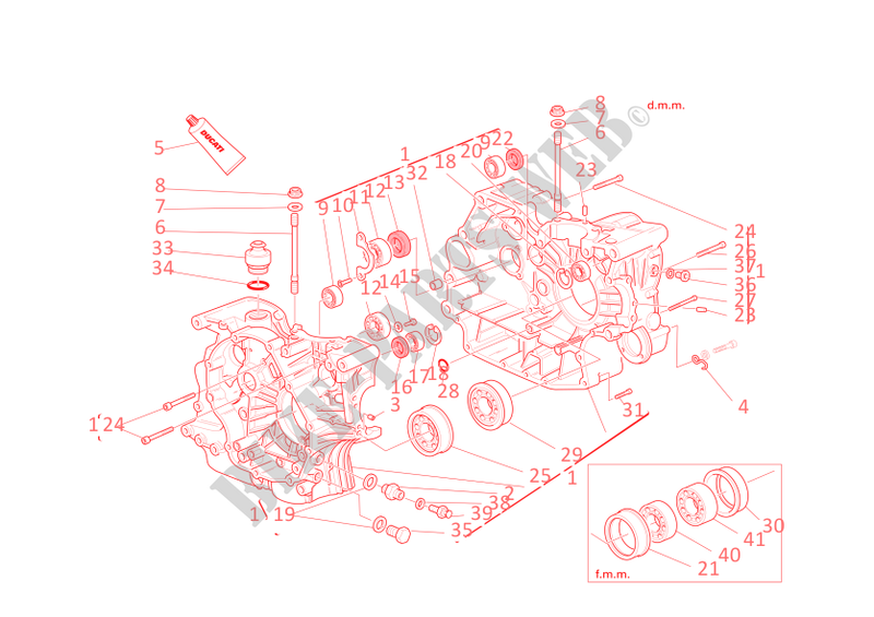 HALF CRANKCASES for Ducati Multistrada 620 2006