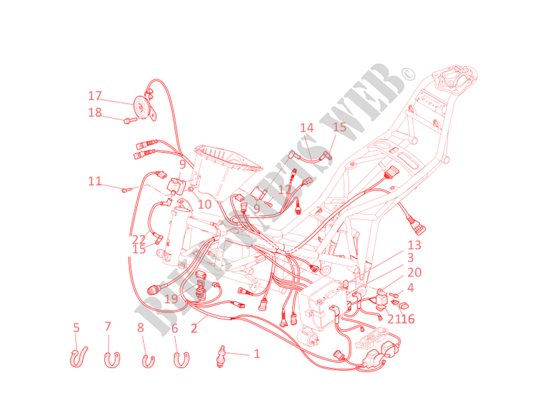 WIRING HARNESS for Ducati Multistrada 620 2006