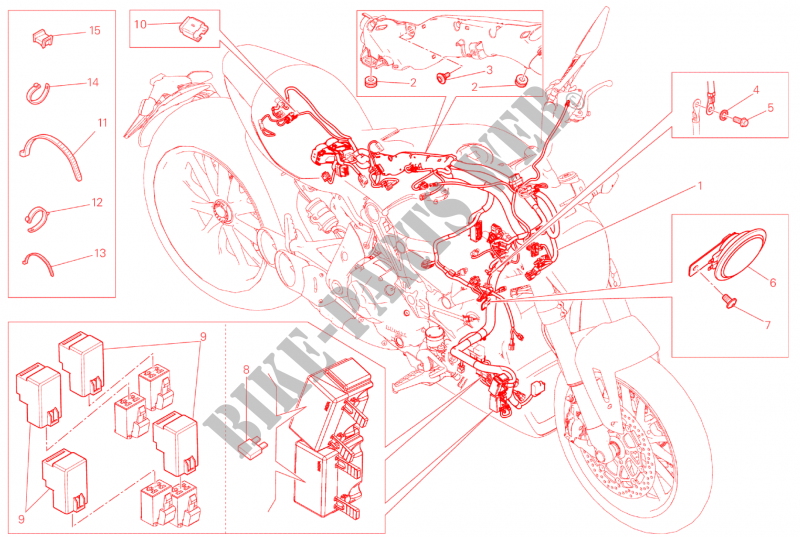 WIRING HARNESS for Ducati XDiavel S 2016 # DUCATI Online ... on