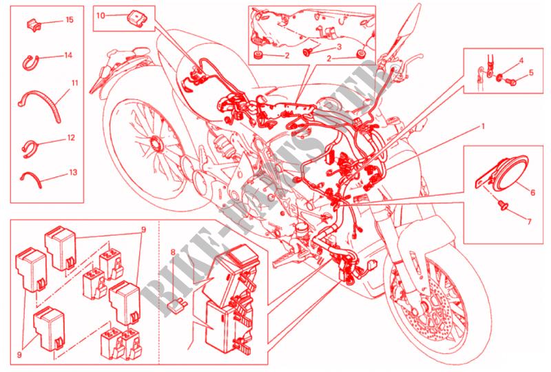 WIRING HARNESS XDiavel S XDiavel S 2017 Diavel Ducati motorcycle