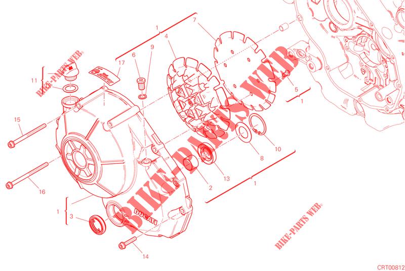 Clutch Cover For Ducati Scrambler 1100 2019 Ducati Online Genuine