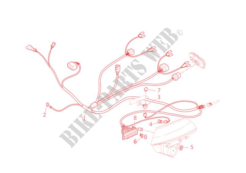 ducati motorcycle multistrada 2003 multistrada 1000ds multistrada 1000ds  multistrada 1000ds front wiring harness