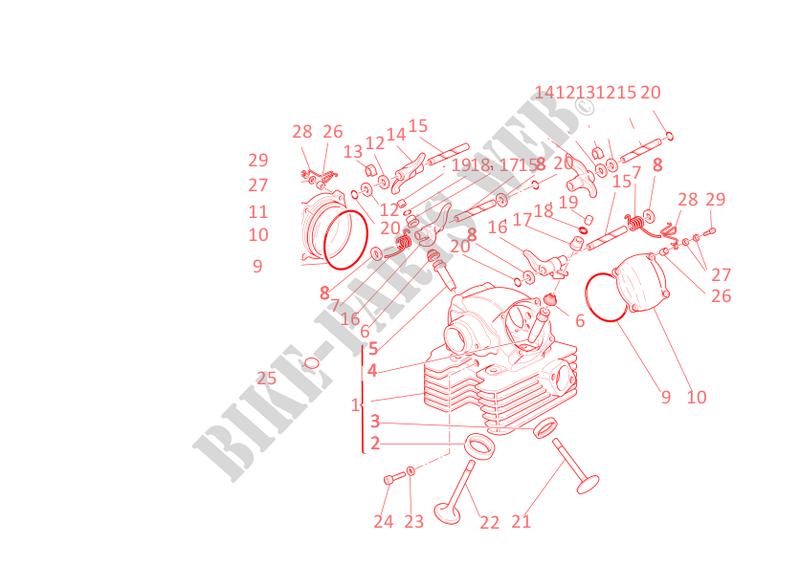 vertical cylinder head multistrada 1000ds multistrada 1000ds 2003 rh bike parts ducati com