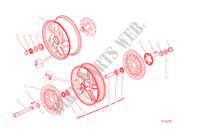 FRONT & REAR WHEELS for Ducati Monster 1200 2015