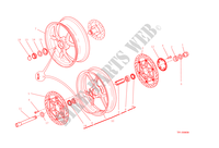 FRONT & REAR WHEELS for Ducati Monster 1200 S 2015