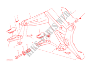 RIGHT FOOTRESTS for Ducati Monster 1200 S 2015