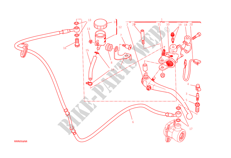 CLUTCH MASTER CYLINDER for Ducati Monster 1200 S 2015