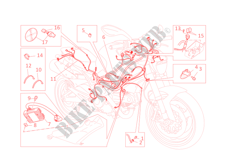 ducati ignition wiring diagram wiring harness for ducati monster 696 2011 ducati online genuine  wiring harness for ducati monster 696