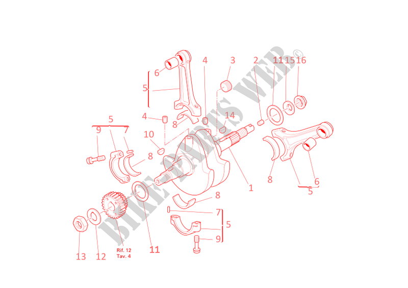 CONNECTING RODS for Ducati Monster 400 2005