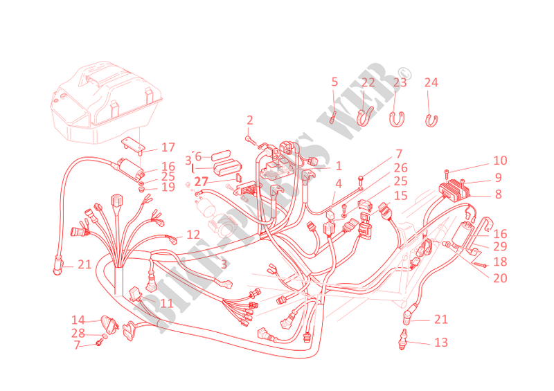 WIRING HARNESS for Ducati Monster 620 Dark 2 DISCS 2005 # DUCATI Online  Genuine Spare Parts CatalogDucati Genuine Spare Parts Catalogue