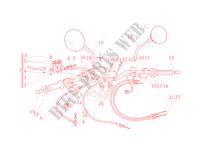 HALF HANDLEBARS for Ducati Monster 400 2002