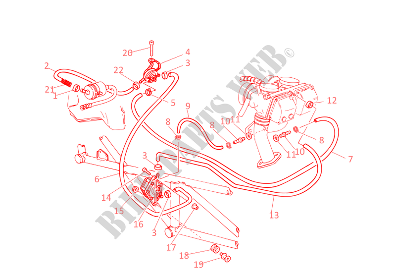 FUEL INFEED for Ducati Monster 400 2002
