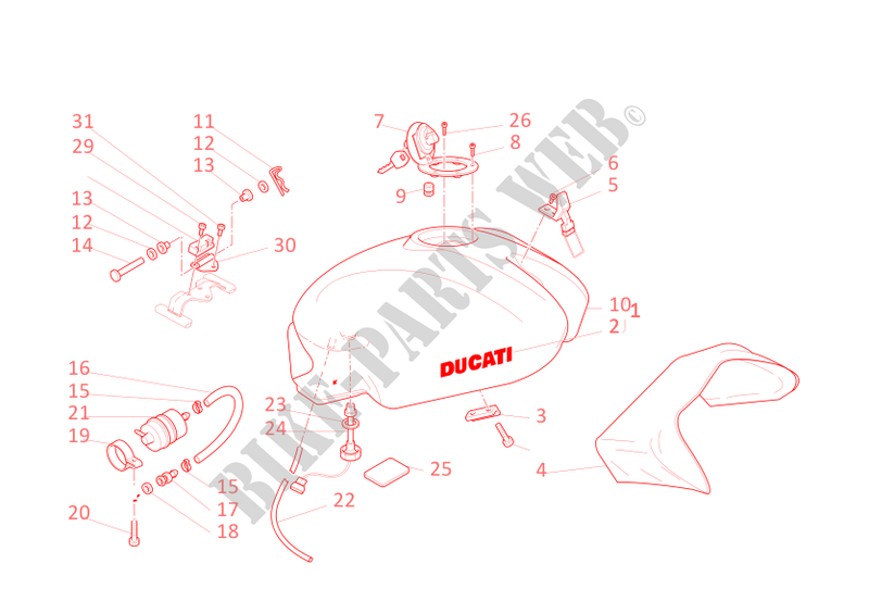 FUEL TANK for Ducati Monster 400 2002